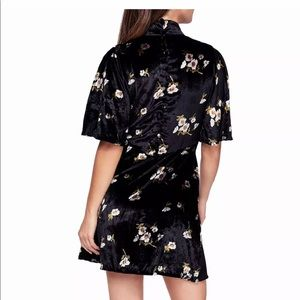 Free People velvet Fit and Flare Dress